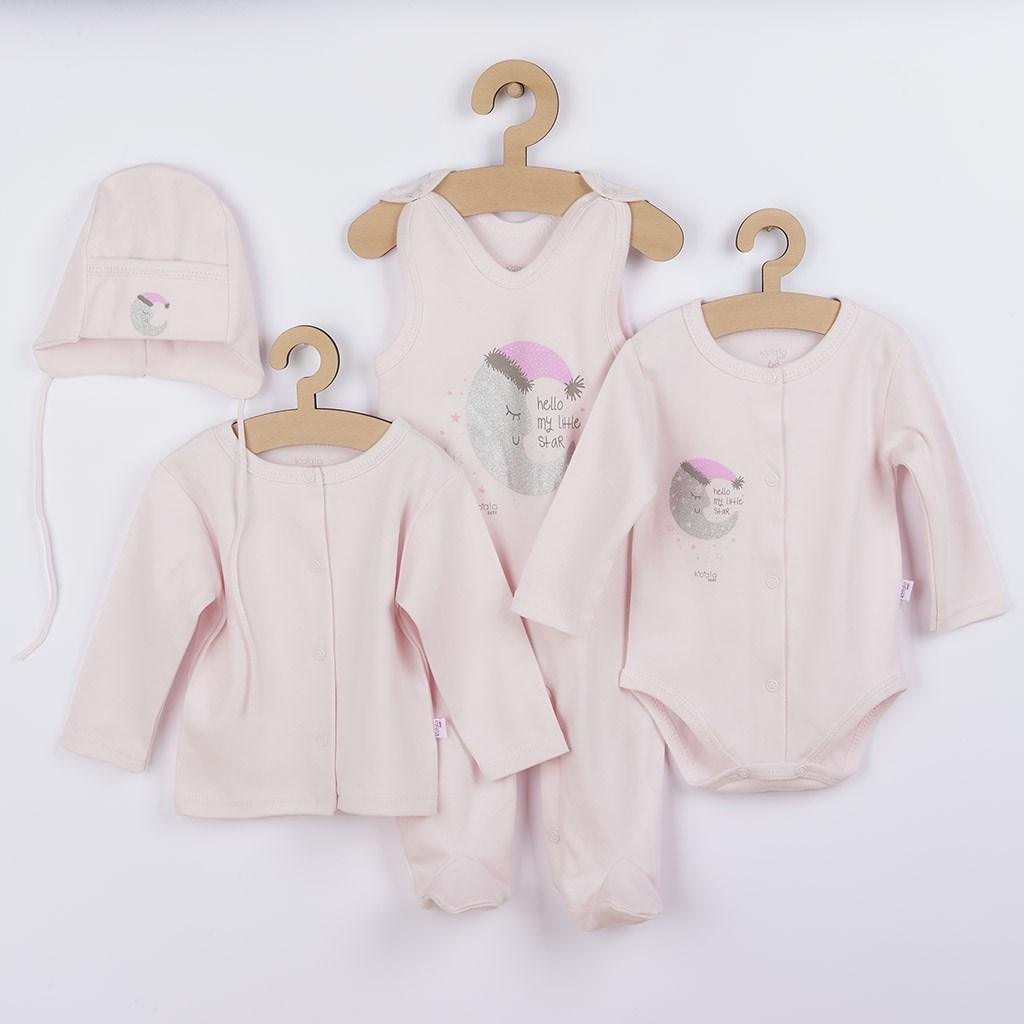 4-dílná kojenecká souprava Koala Moon růžová, 62 (3-6m)
