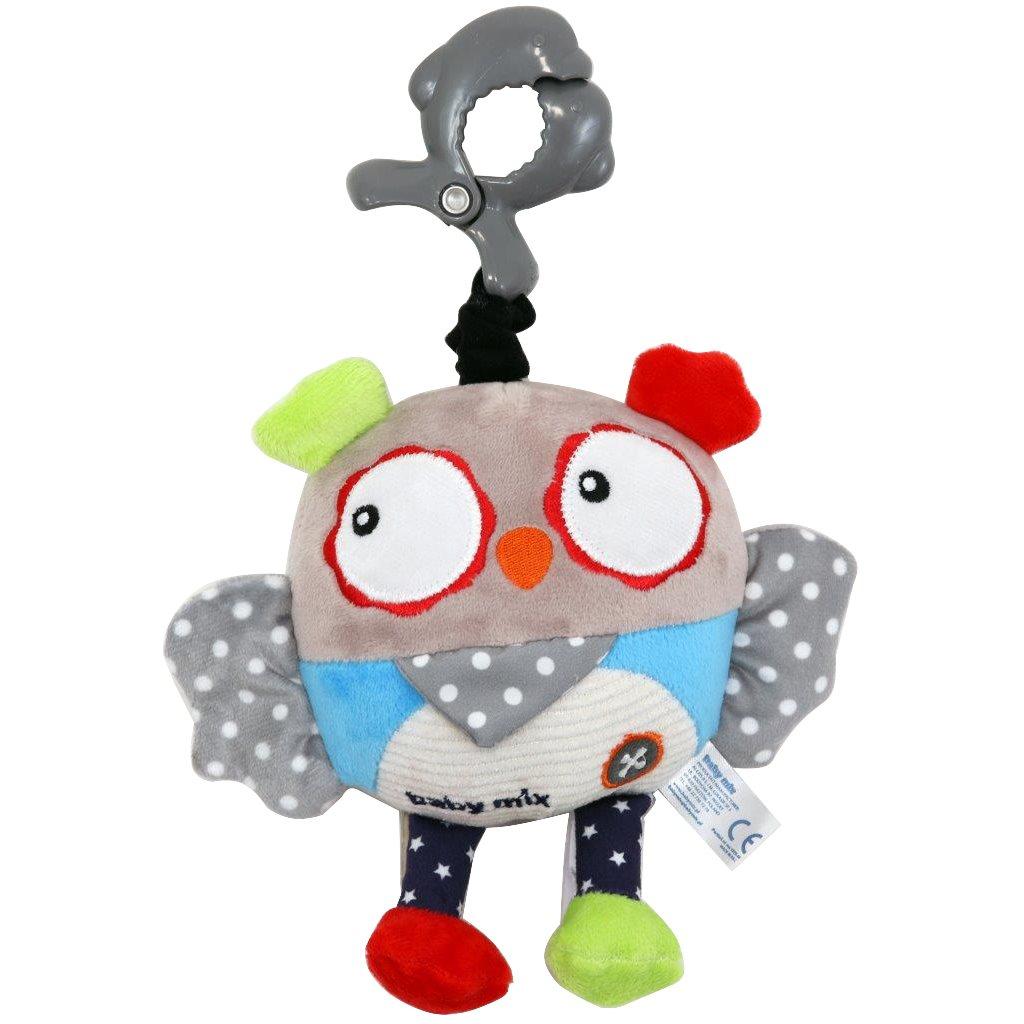 Dětská plyšová hračka s hracím strojkem Baby Mix Sova