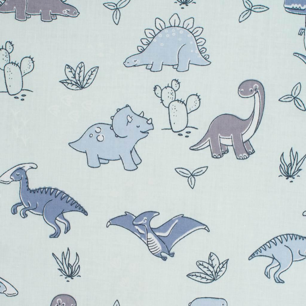 Oboustranný Set z Velvet do kočárku New Baby dinosauři šedý