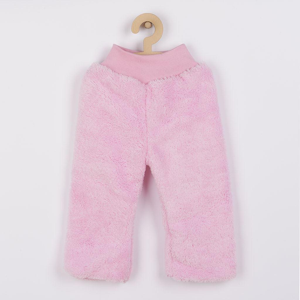 Zimní dětské tepláčky New Baby Penguin růžové, 98 (2-3r)