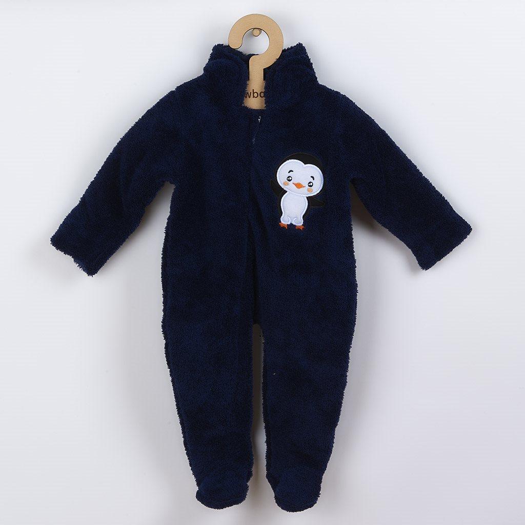 Zimní dětská kombinéza New Baby Penguin tmavě modrá vel. 68 (4-6m)