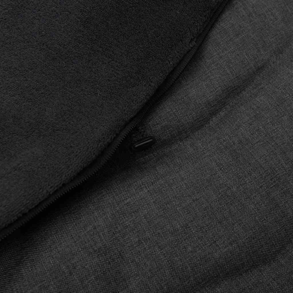 Dětský fusák New Baby s kožíškem tmavě šedý