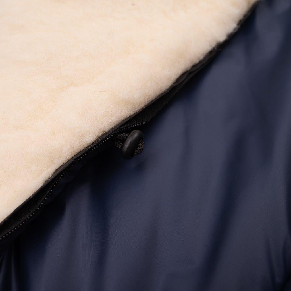 Dětský fusák New Baby 3v1 s ovčím rounem tmavě modrý