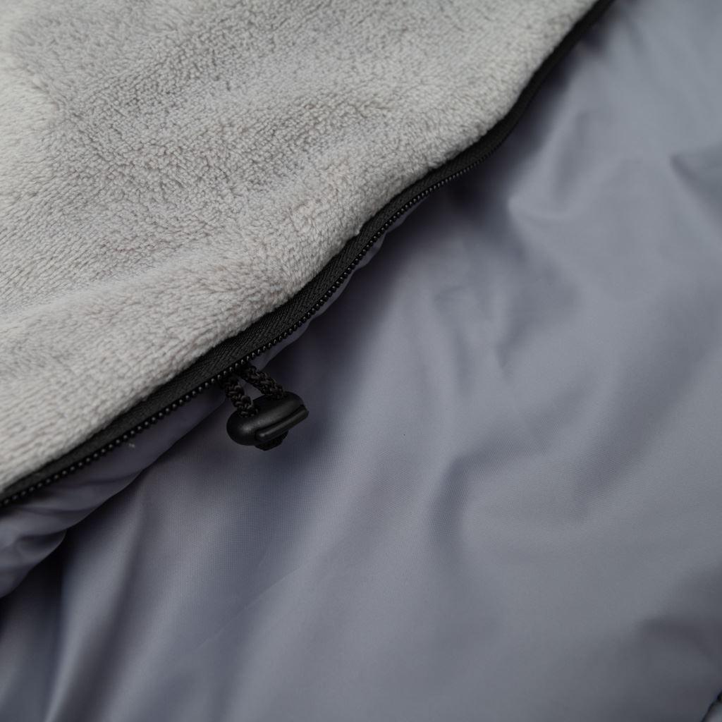 Dětský fusák New Baby 3v1 s kožíškem šedý