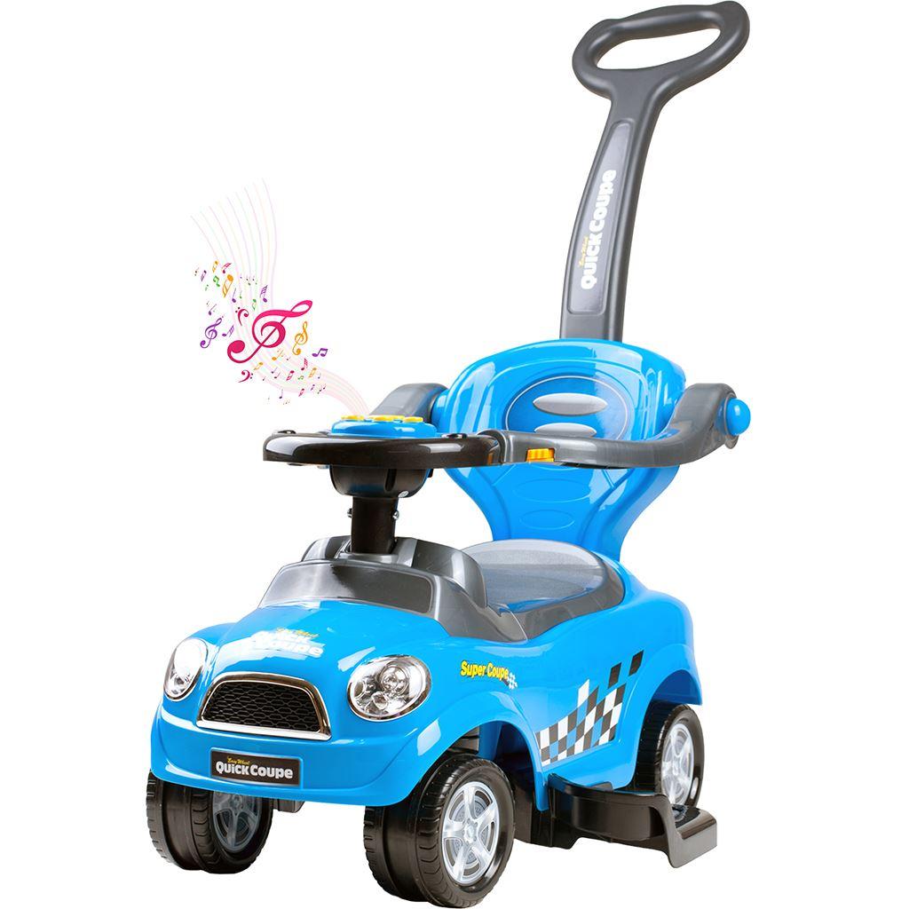 Dětské hrající jezdítko 3v1 Bayo Super Coupe blue (poškozený obal)