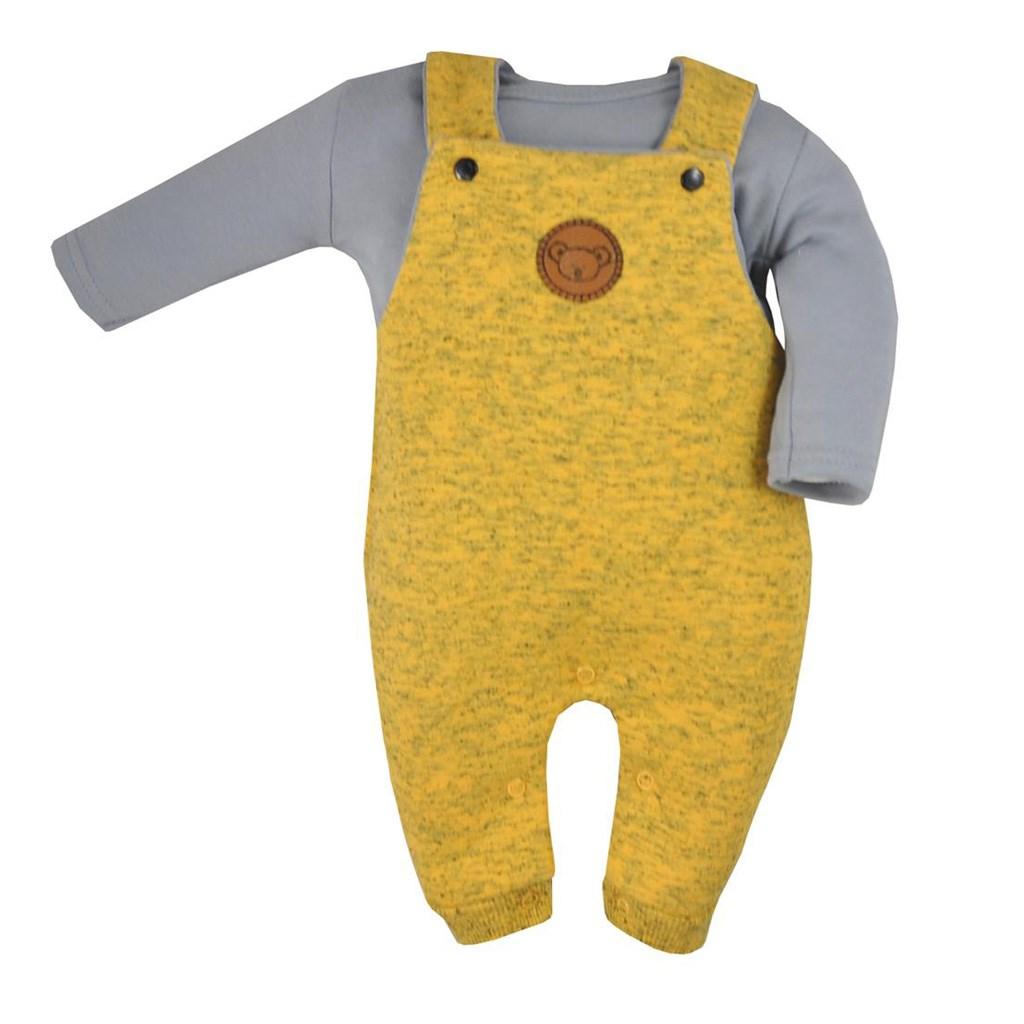 2-dílná kojenecká souprava Koala Koala melírovaná žlutá