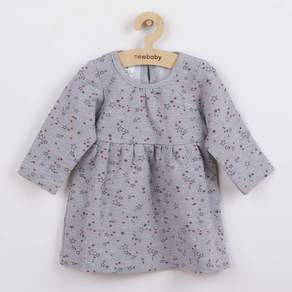 Kojenecké šatičky s dlouhým rukávem New Baby For Girls hvězdičky vel. 68 (4-6m)