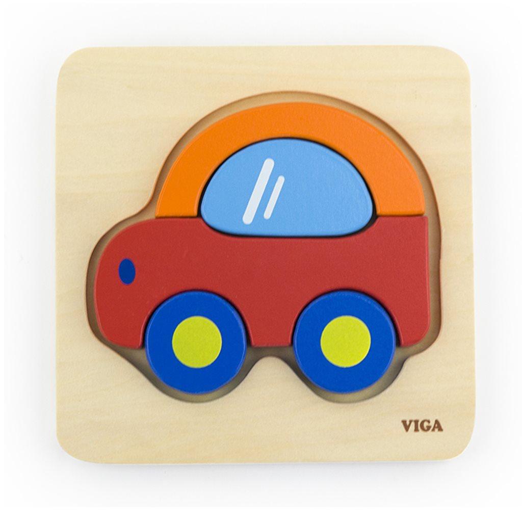 Dřevěné puzzle pro nejmenší Viga Beruška