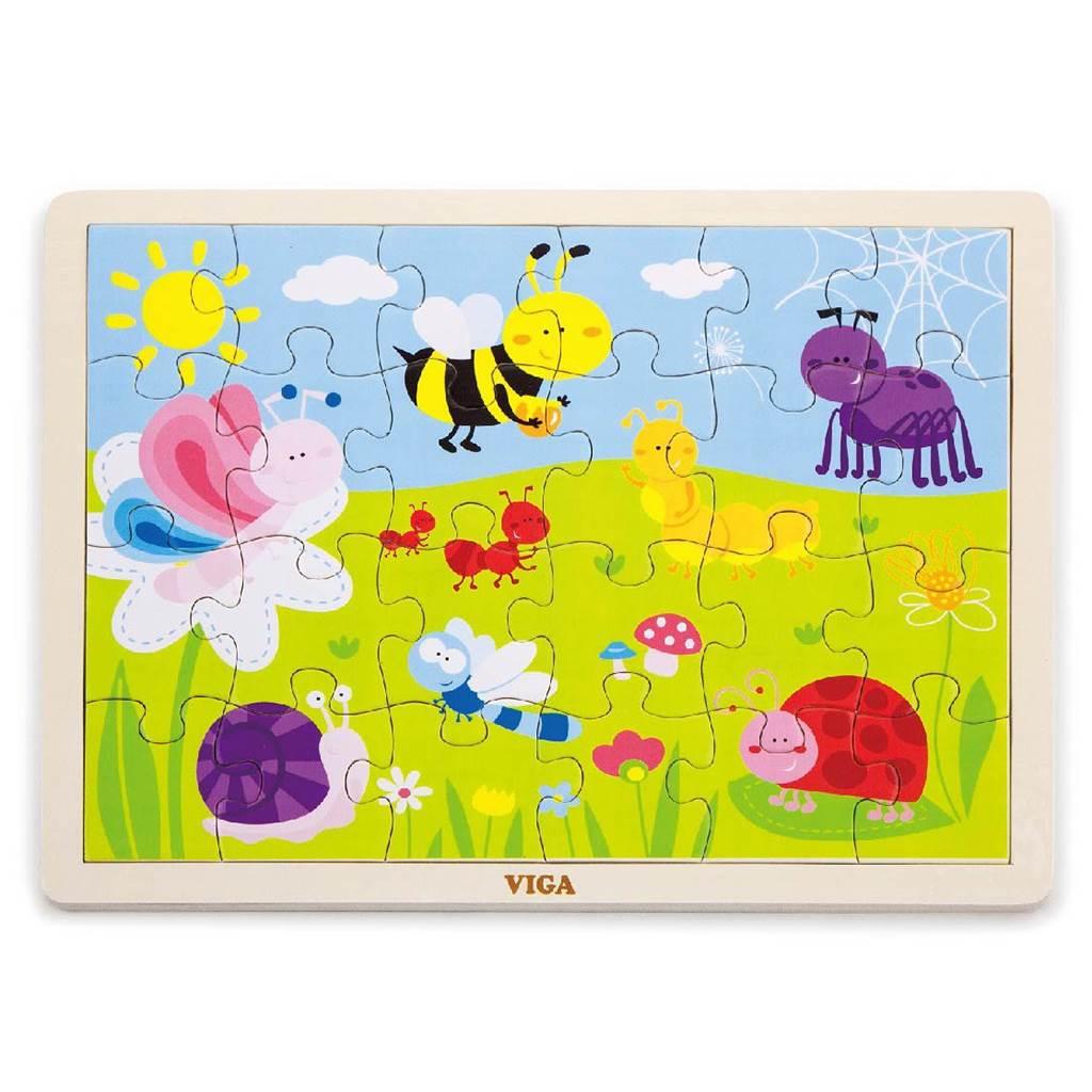 Dětské dřevěné puzzle Viga Louka