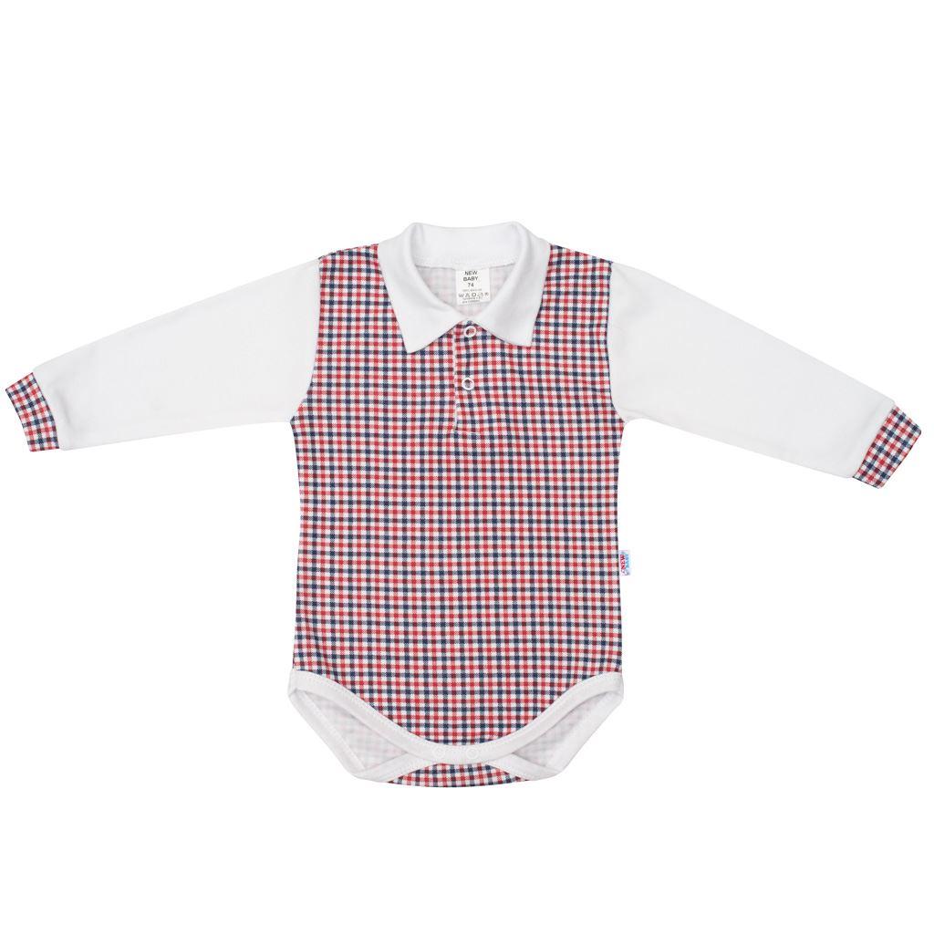 Kojenecké Polo body New Baby Checkered bílé, 74 (6-9m)