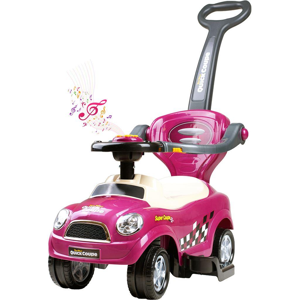 Dětské hrající jezdítko 3v1 Bayo Super Coupe purple (poškozený obal)