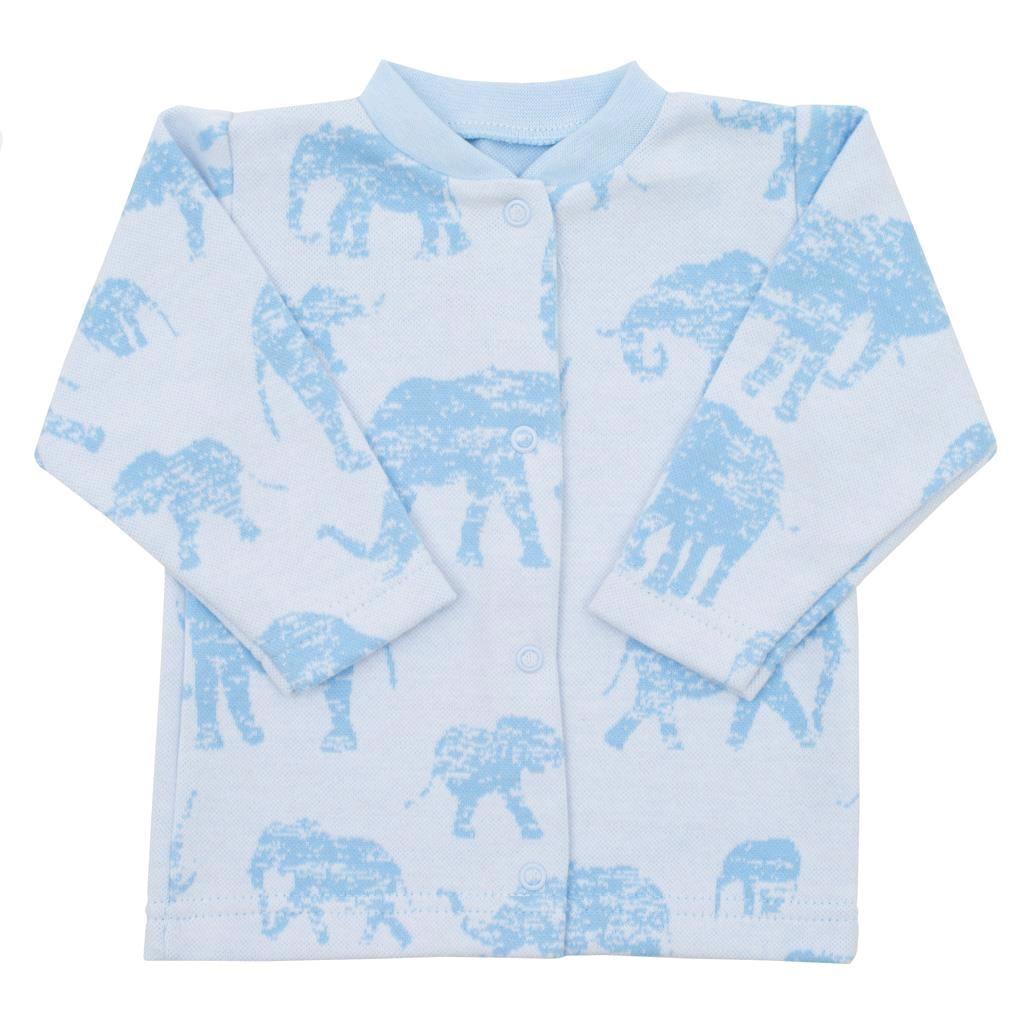 Kojenecký kabátek Baby Service Sloni modrý vel. 62 (3-6m)