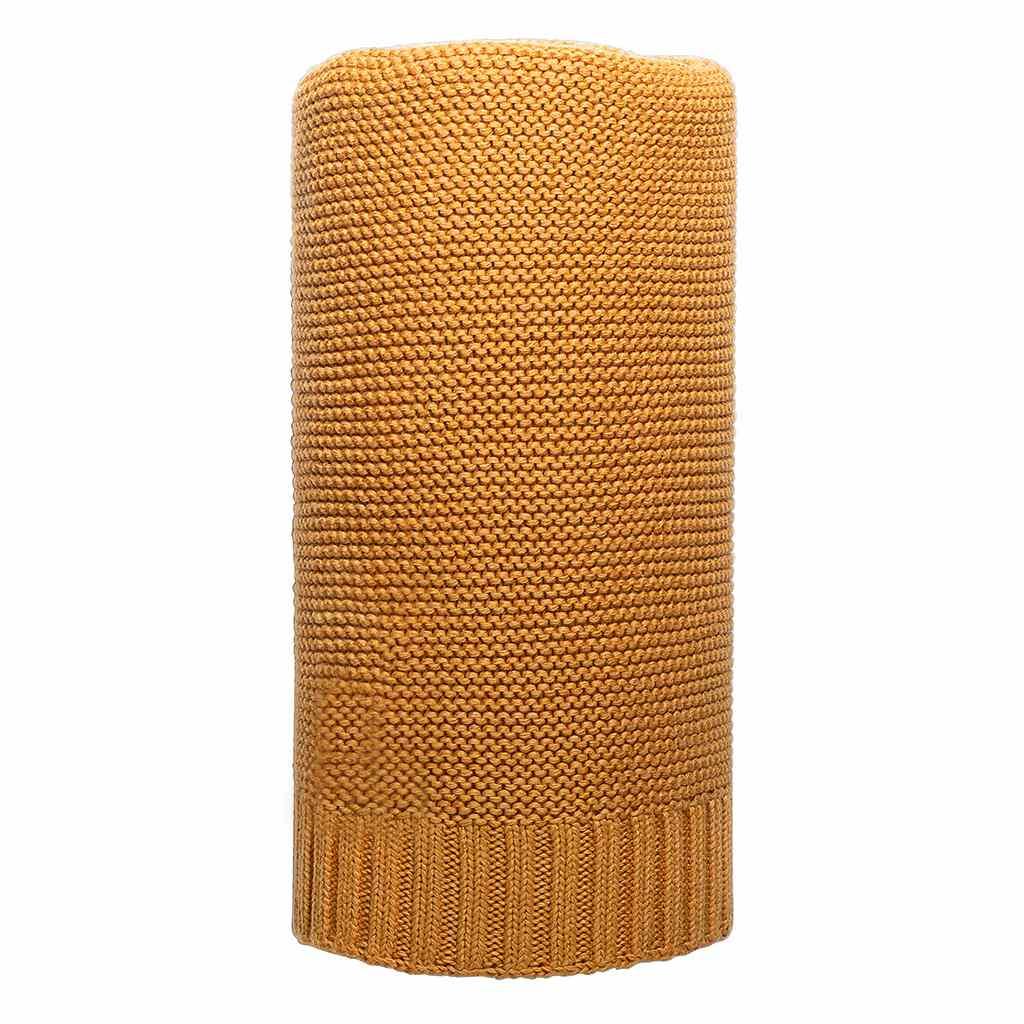 Bambusová pletená deka horčicová
