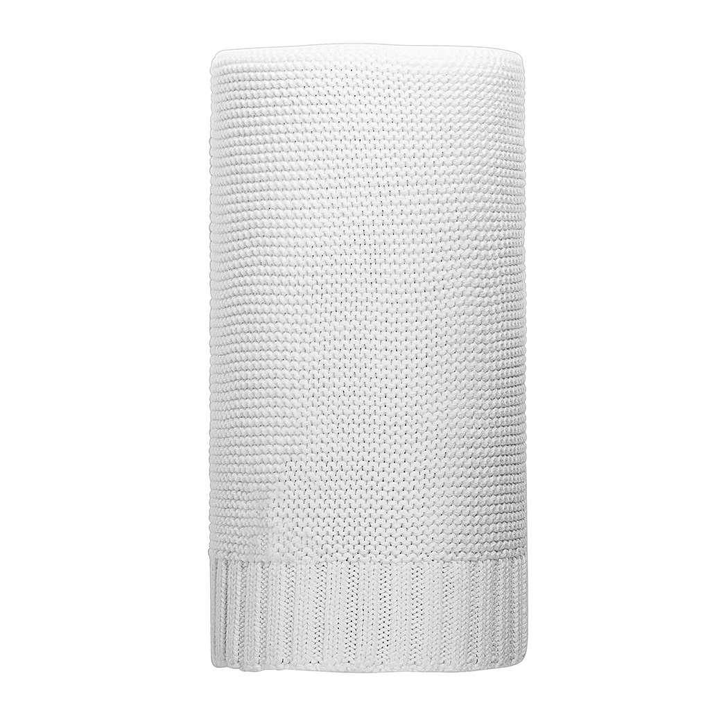Bambusová pletená deka biela 100x80 cm