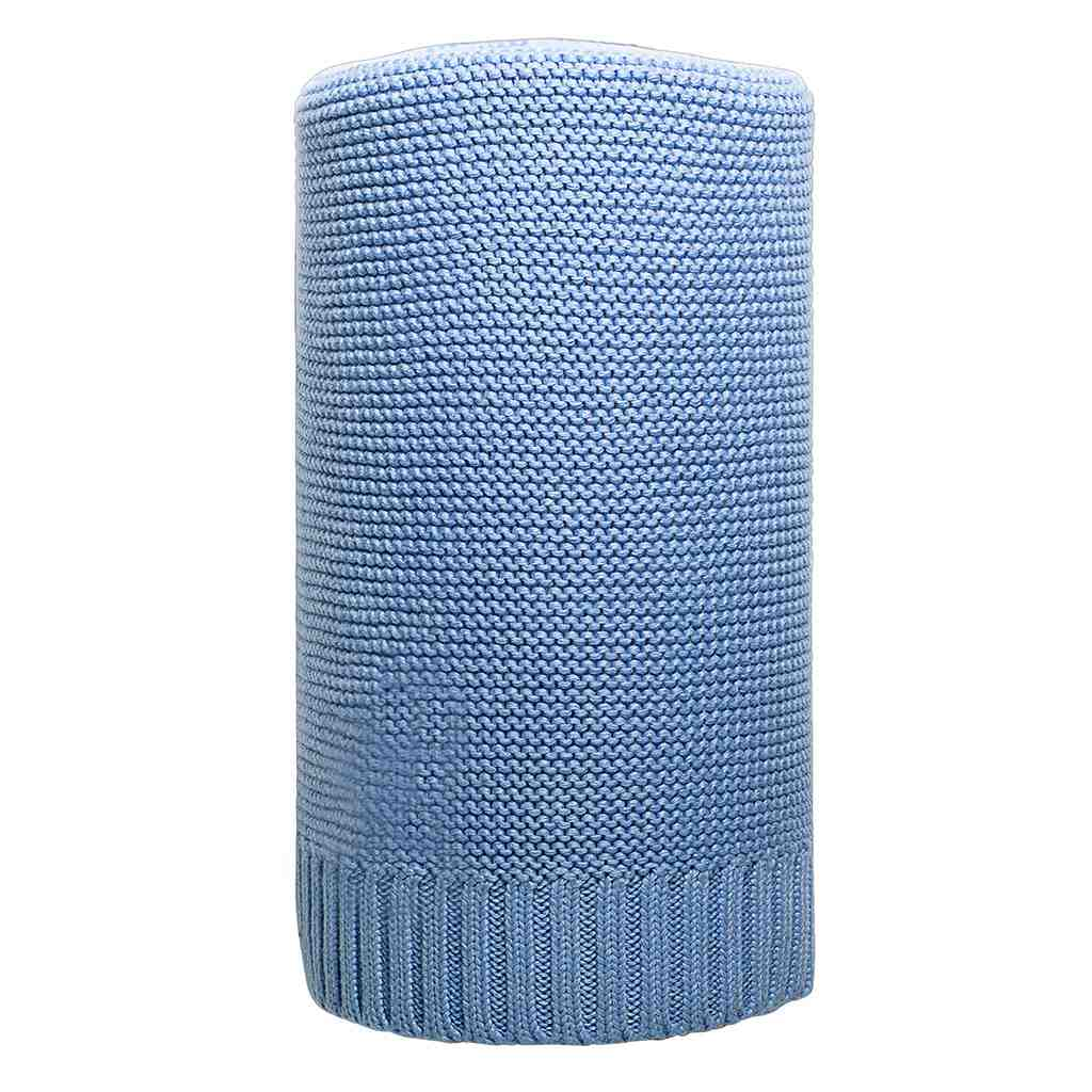Bambusová pletená deka modrá