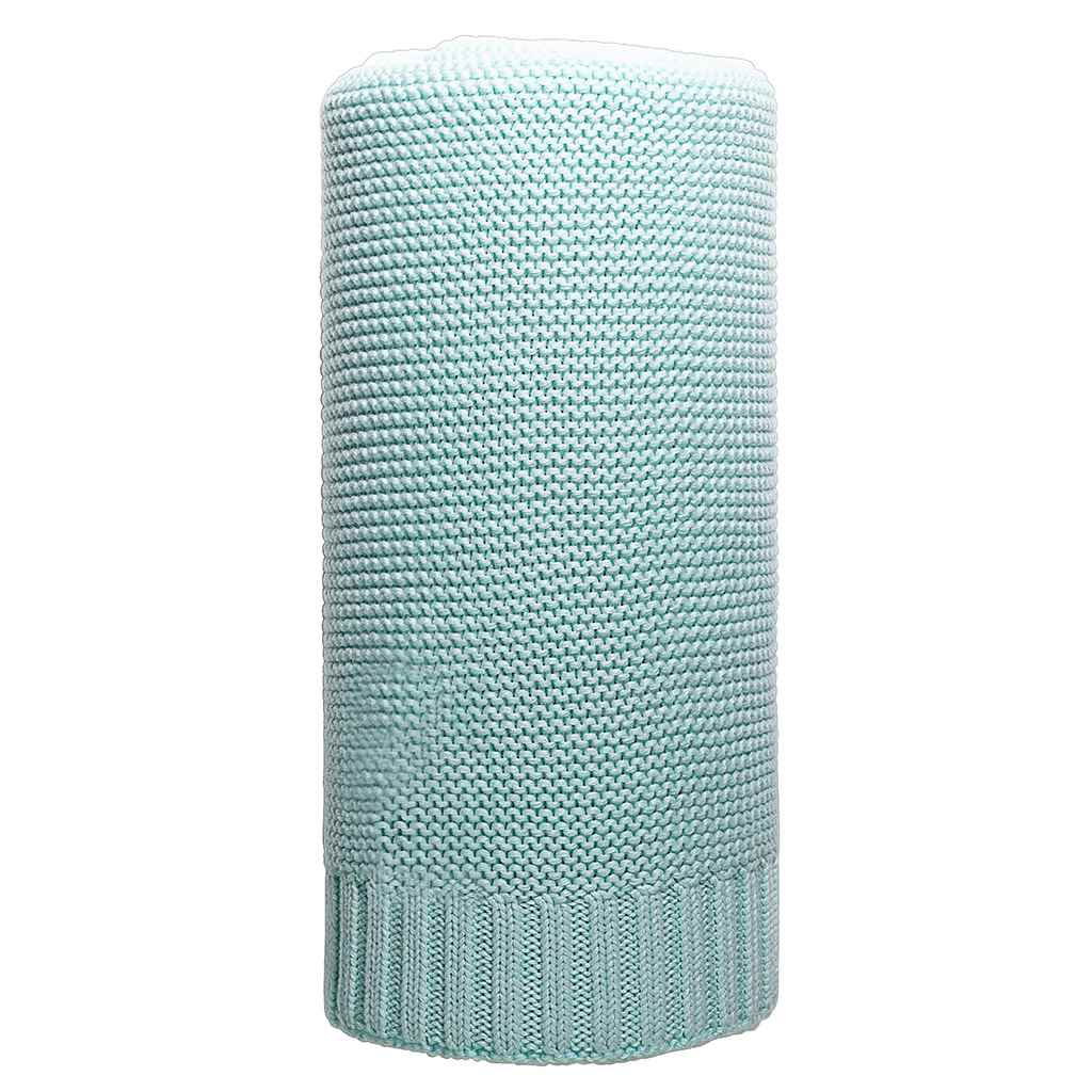 Bambusová pletená deka mätová 100x80 cm