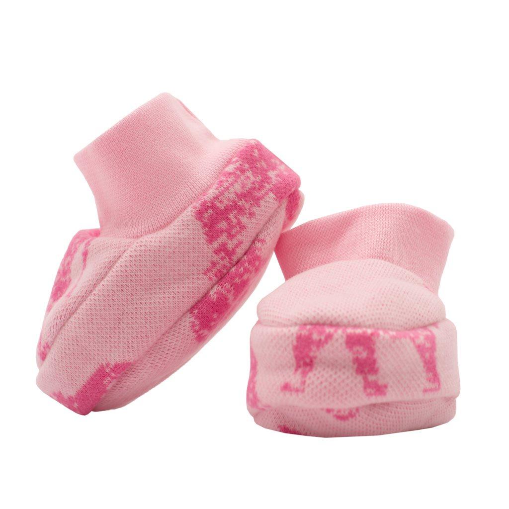Zimní kojenecké capáčky Baby Service Sloni růžové vel. Univerzální