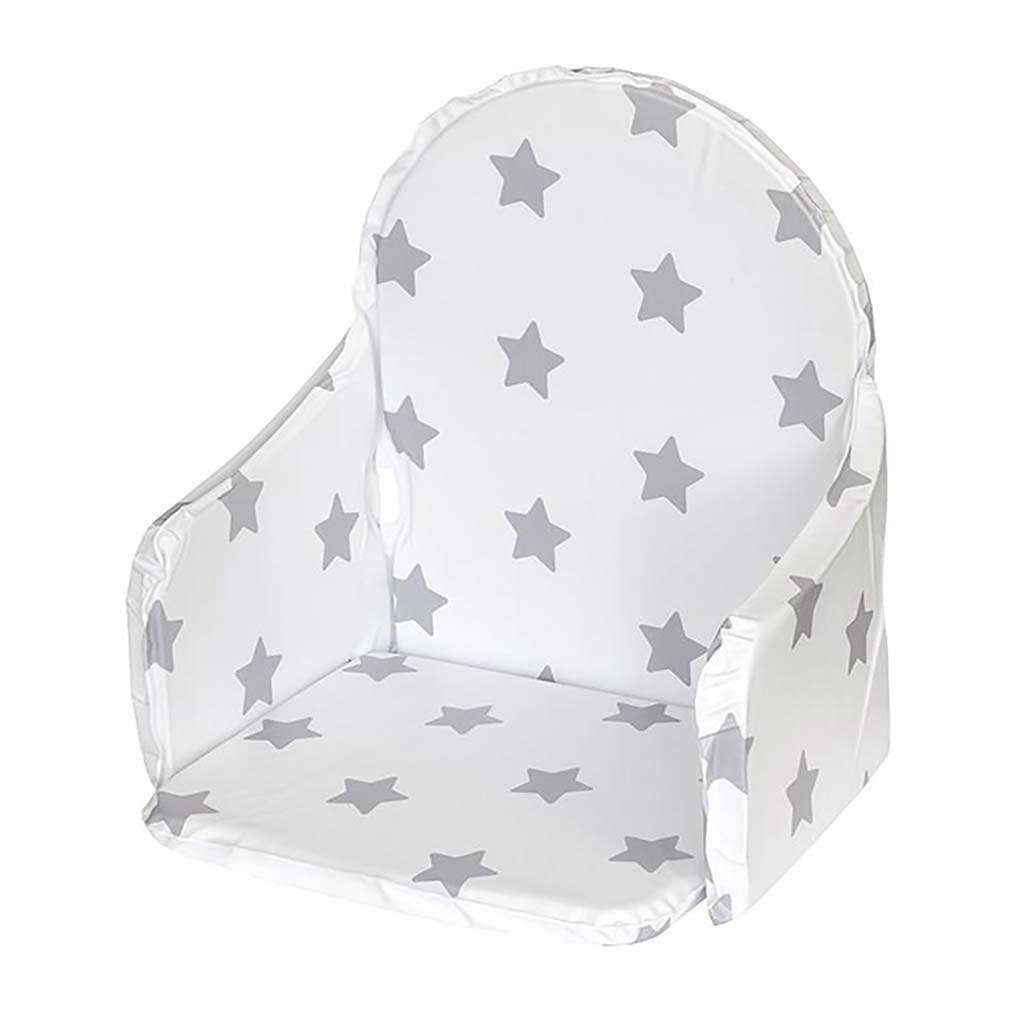 Vložka do dřevěných jídelních židliček typu New Baby Victory bílá hvězdičky