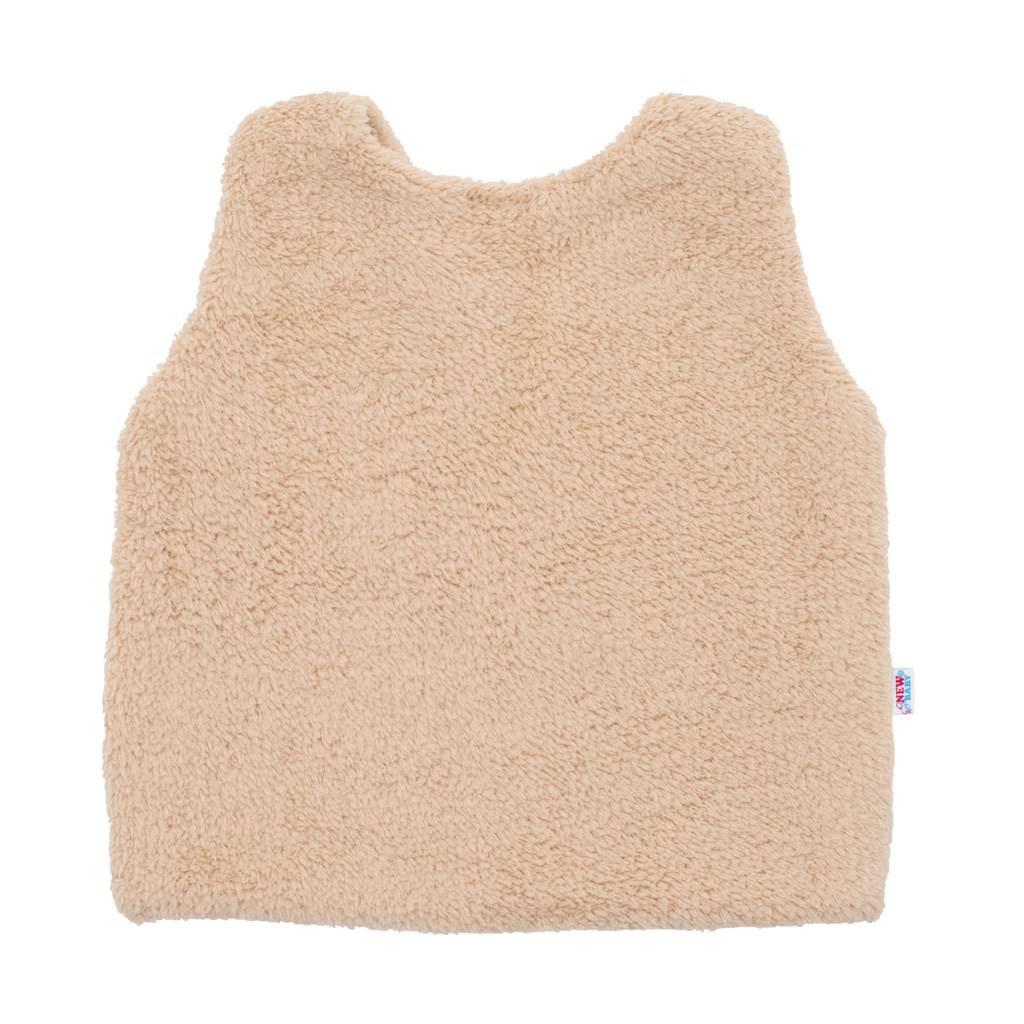 Dívčí bavlněná chlupatá vesta New Baby For Girls, 68 (4-6m)