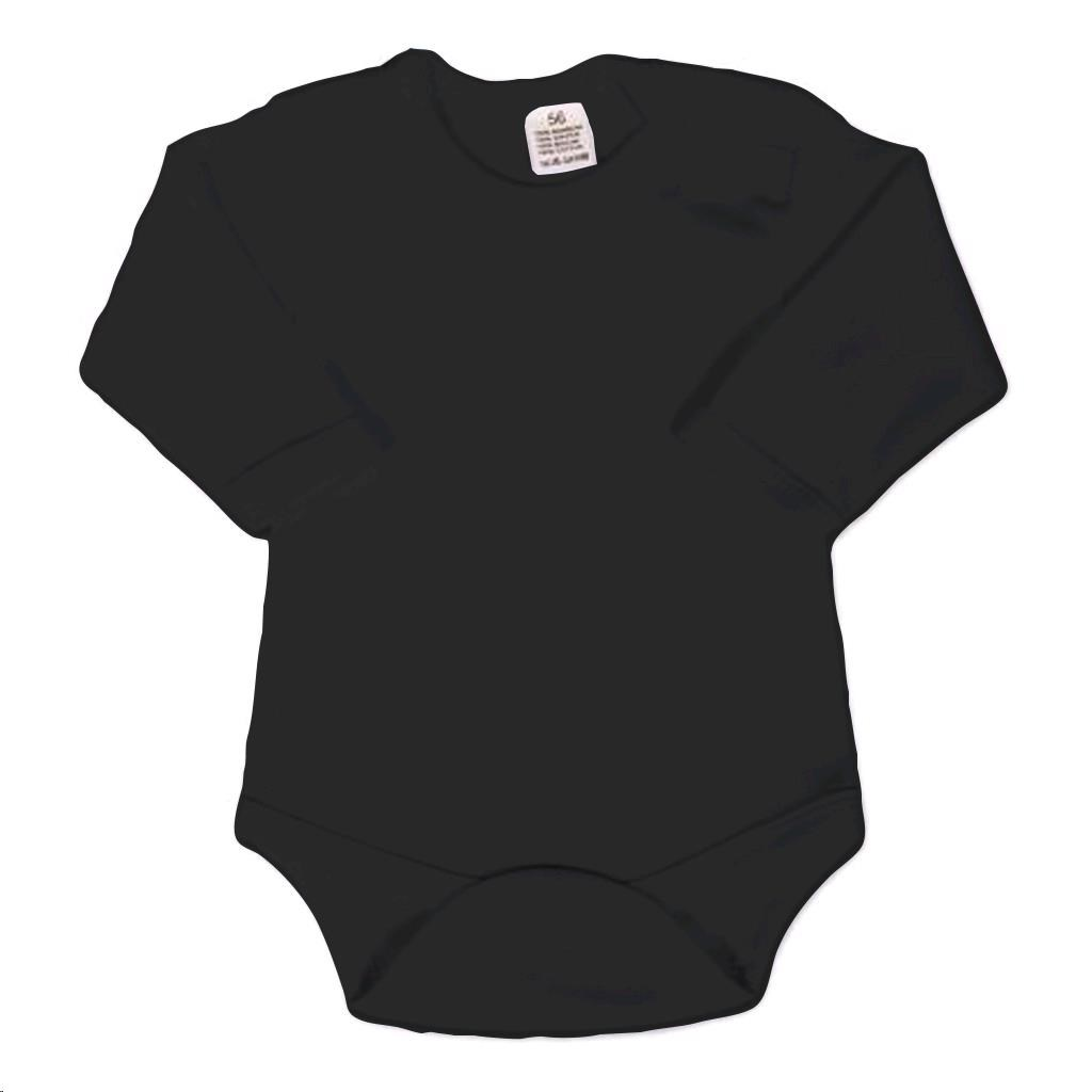 Body dlouhý rukáv New Baby - černé, Velikost: 50