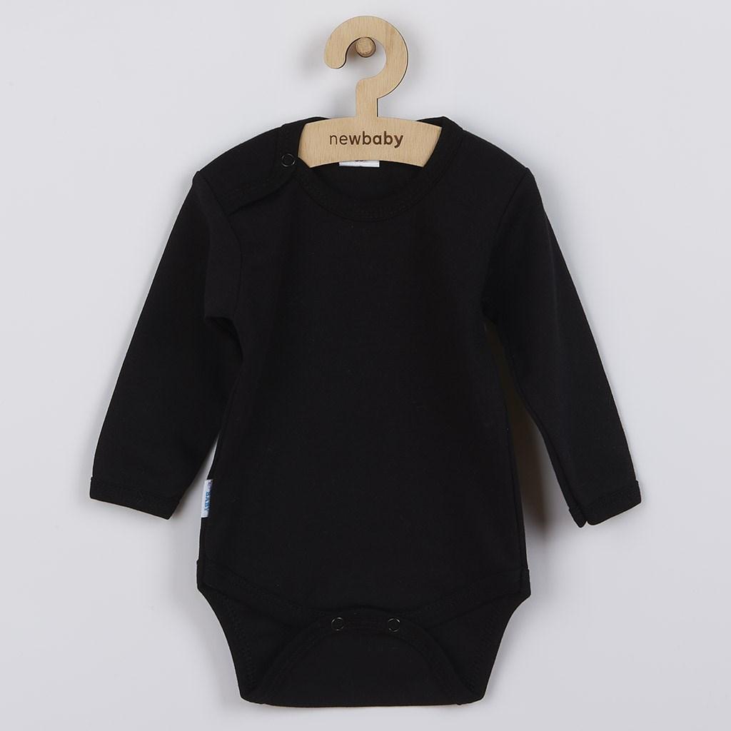 Body dlouhý rukáv New Baby - černé, Velikost: 56 (0-3m)