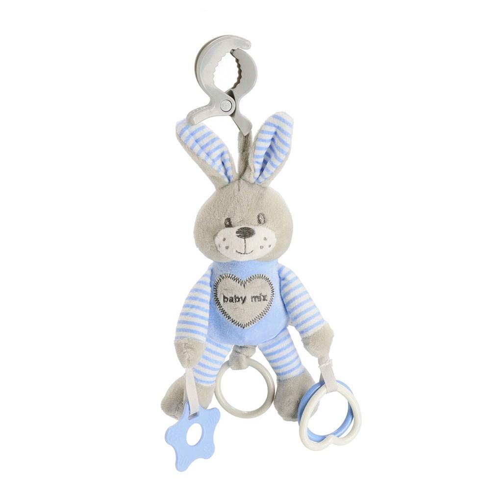 Plyšová hračka s vibrací Baby Mix králík modrý