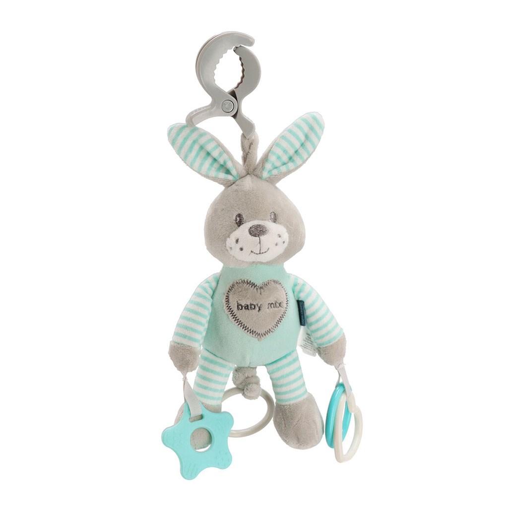 Plyšová hračka s vibrací Baby Mix králík mátový