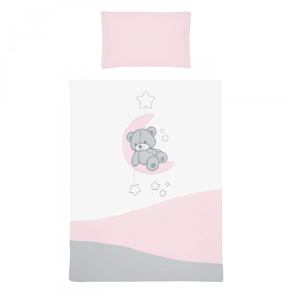 2-dílné ložní povlečení Belisima Teddy Bear 90/120 růžové