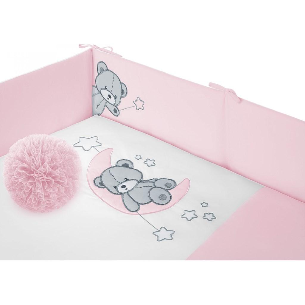 5-dílné ložní povlečení Belisima Teddy Bear 100/135 růžové