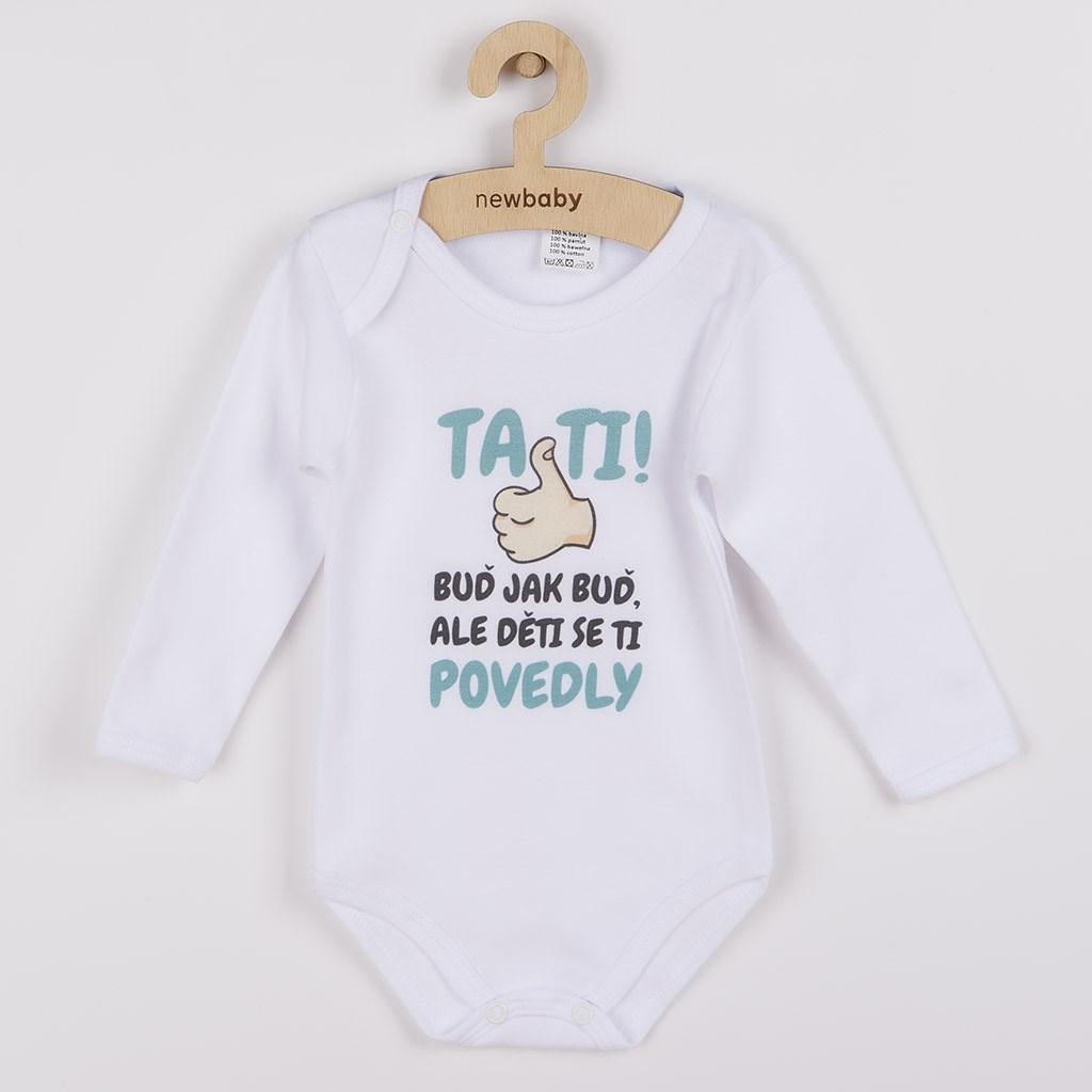 Body s potiskem New Baby Tati, ... děti se ti povedly