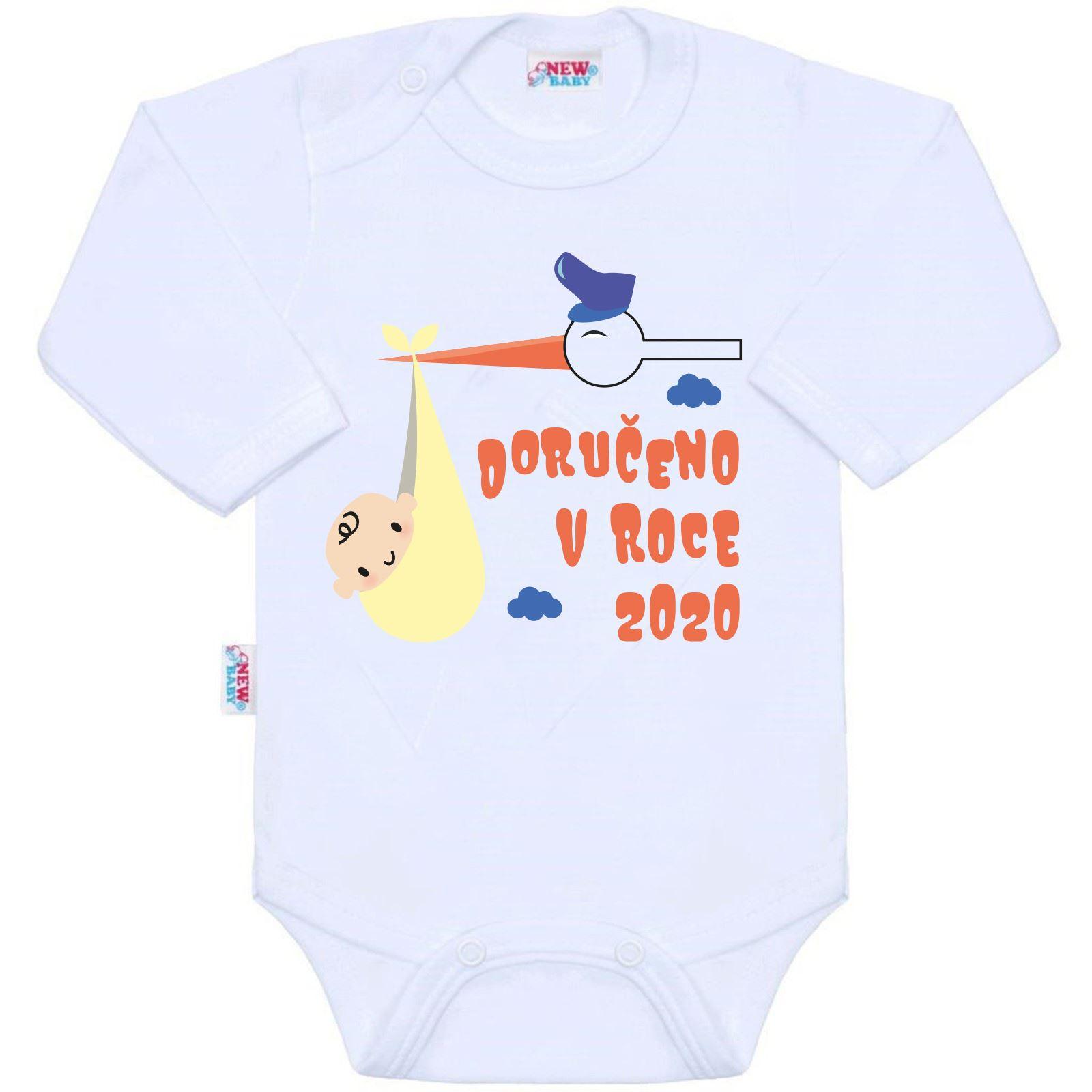 Body s potiskem New Baby Doručeno v roce 2020, Velikost: 50