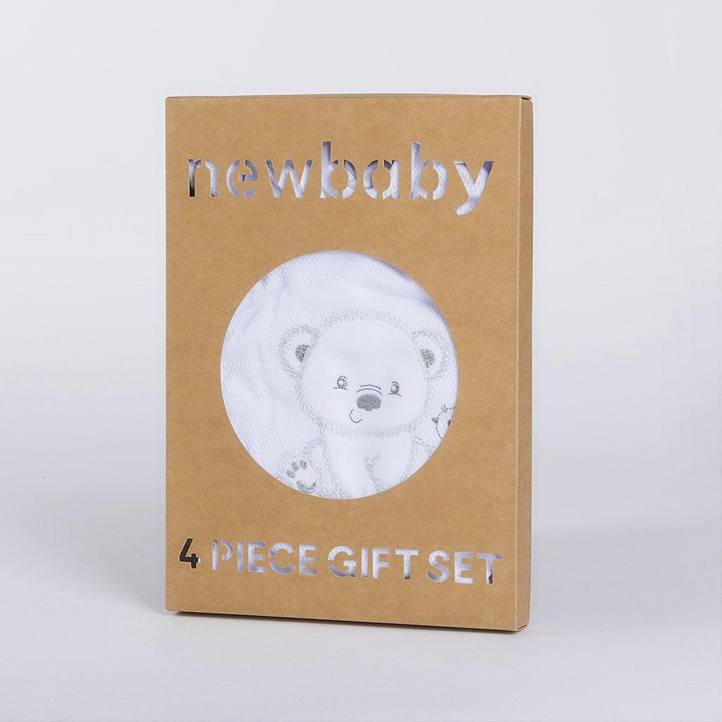 Kojenecká soupravička do porodnice New Baby Sweet Bear bílá