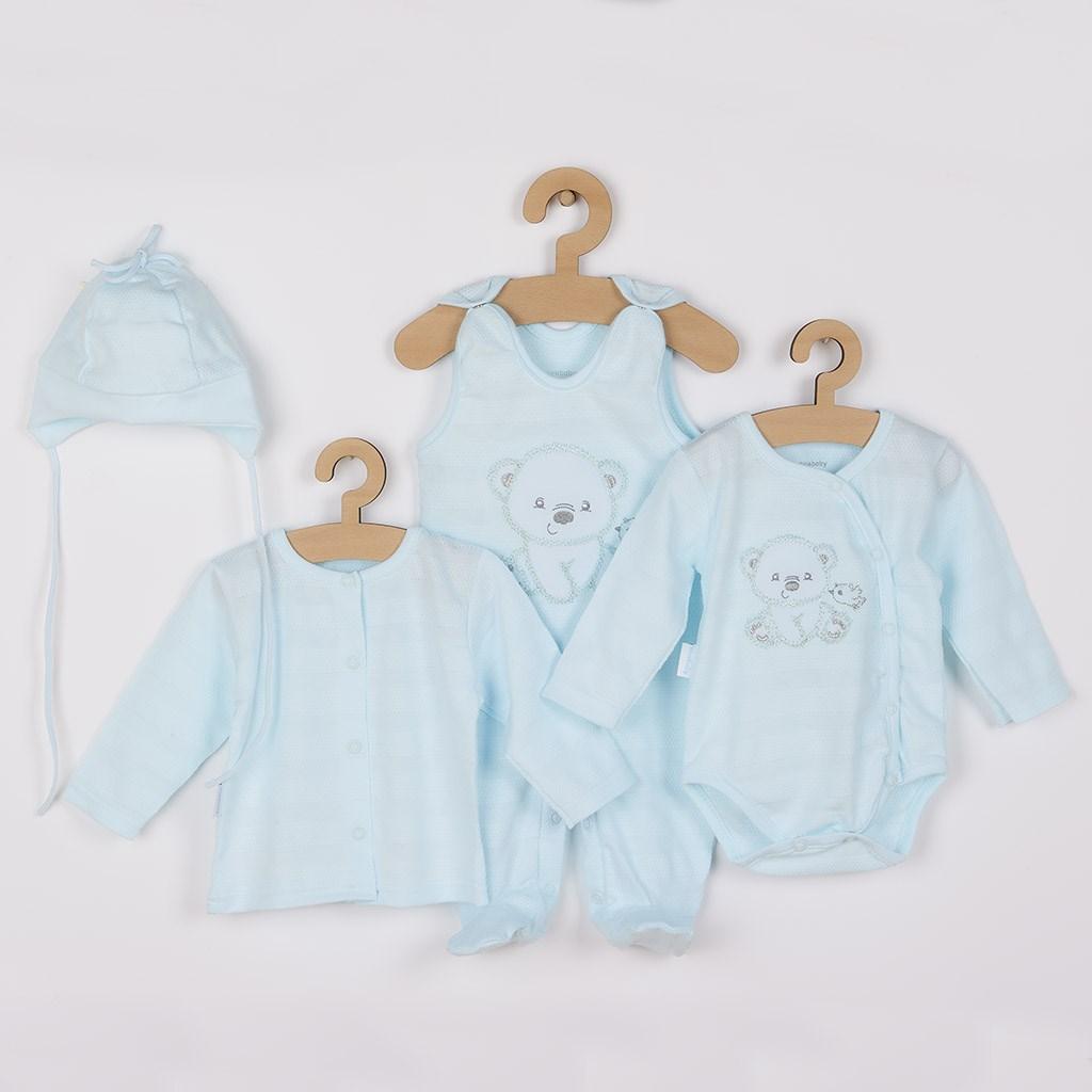 Kojenecká soupravička do porodnice New Baby Sweet Bear modrá 50
