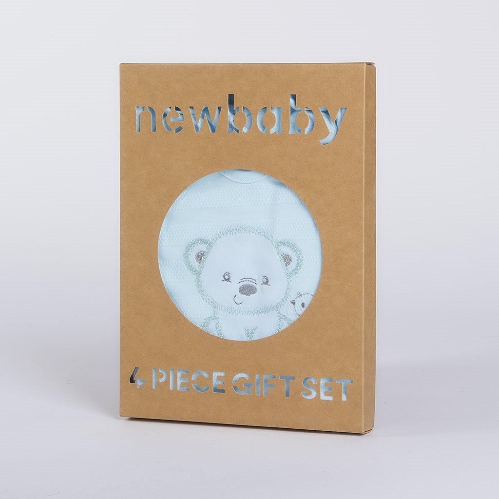 Kojenecká soupravička do porodnice New Baby Sweet Bear modrá, 56 (0-3m)