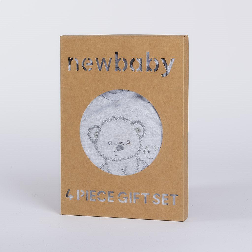 Kojenecká soupravička do porodnice New Baby Sweet Bear šedá, 62 (3-6m)