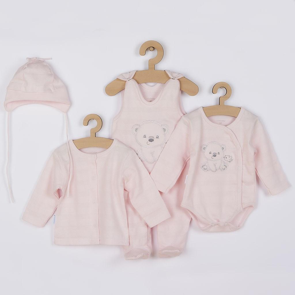 Kojenecká soupravička do porodnice New Baby Sweet Bear růžová