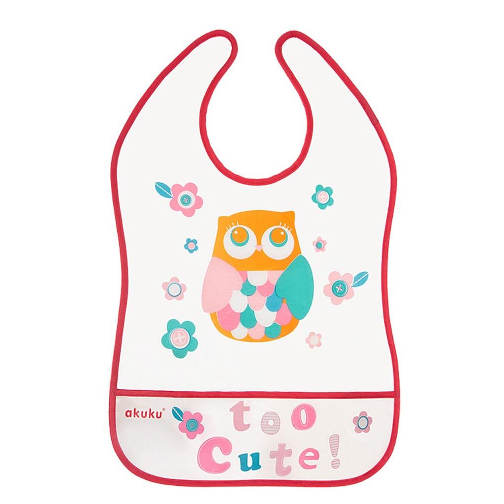 Dětský bryndák s kapsičkou Akuku Owl