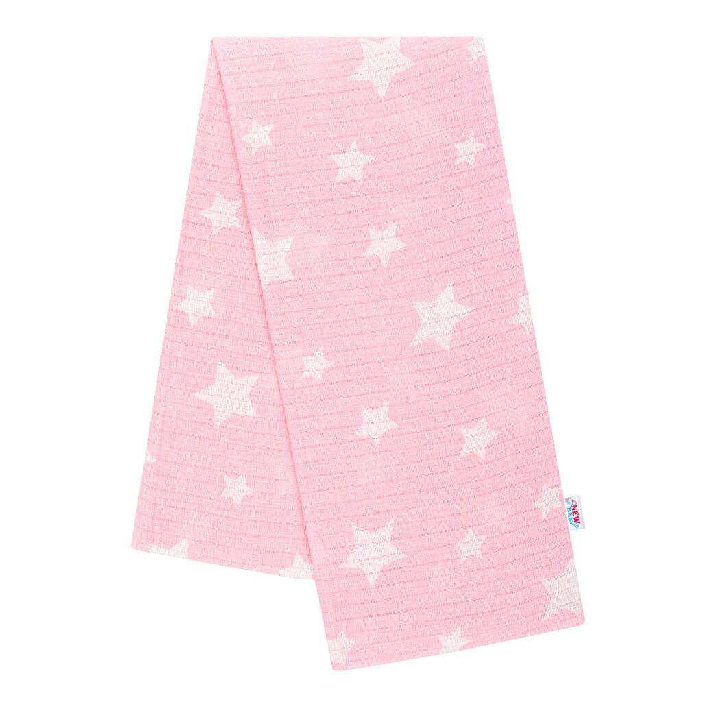 Bavlněná plena s potiskem New Baby růžová hvězdičky
