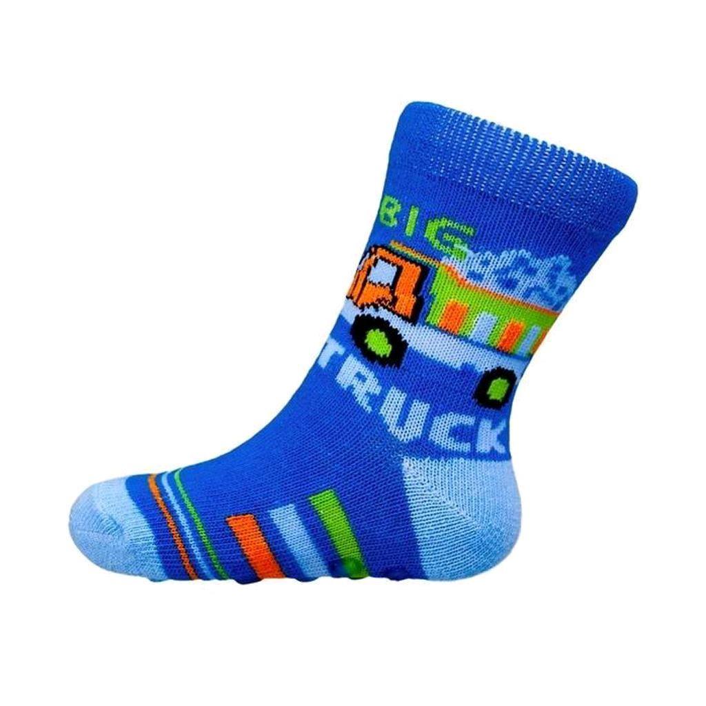 Kojenecké ponožky New Baby s ABS modré nákladní auto