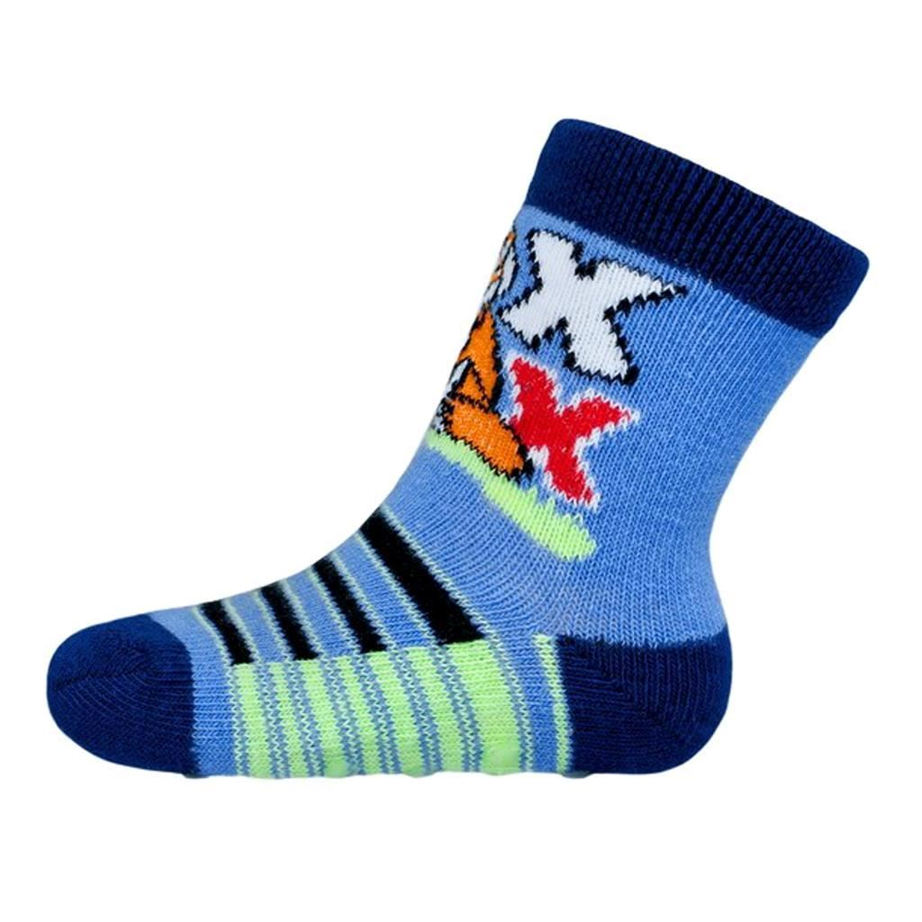 Kojenecké ponožky New Baby s ABS modré s liškou