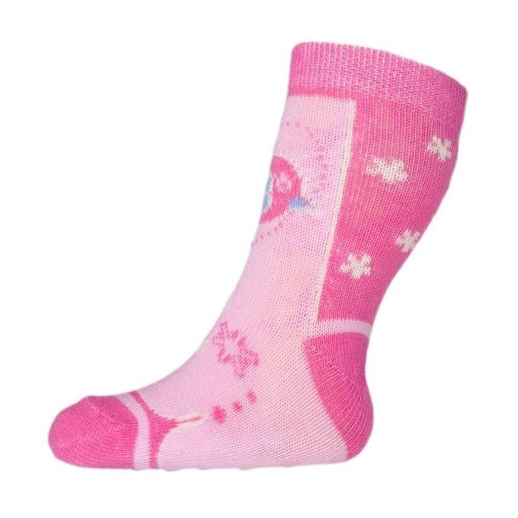 Kojenecké ponožky New Baby s ABS růžové hvězdičky