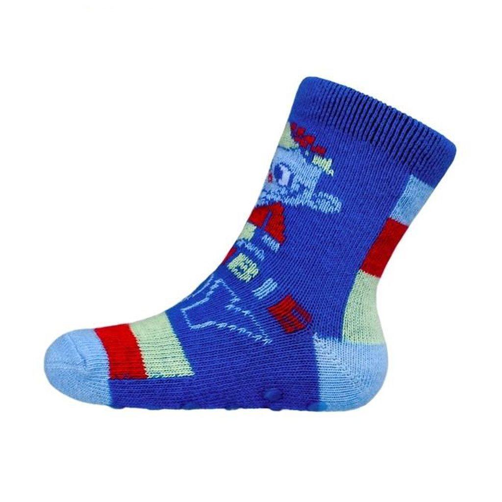 Kojenecké ponožky New Baby s ABS modré zombie boy
