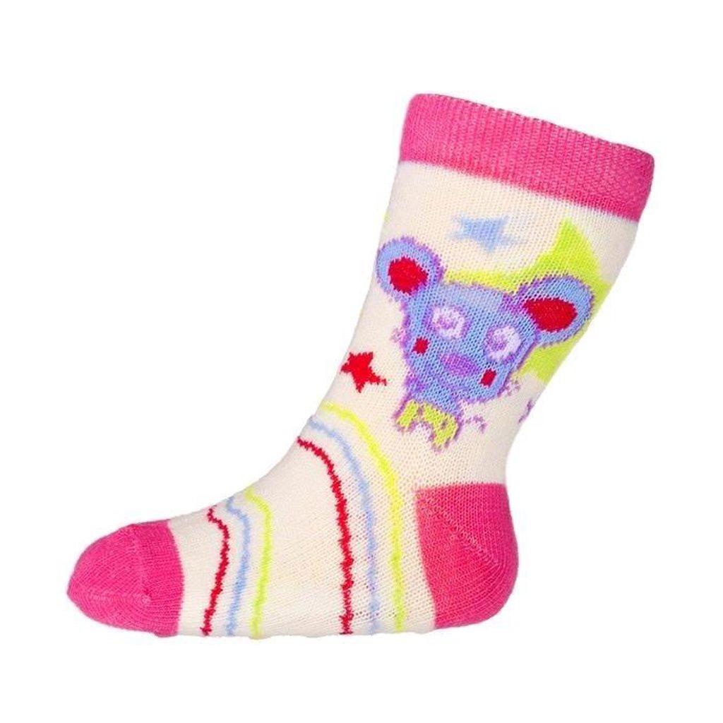 Kojenecké ponožky New Baby s ABS žluté s medvídkem