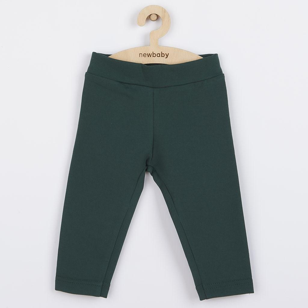 Kojenecké bavlněné legíny New Baby Leggings tmavě zelené, 56 (0-3m)