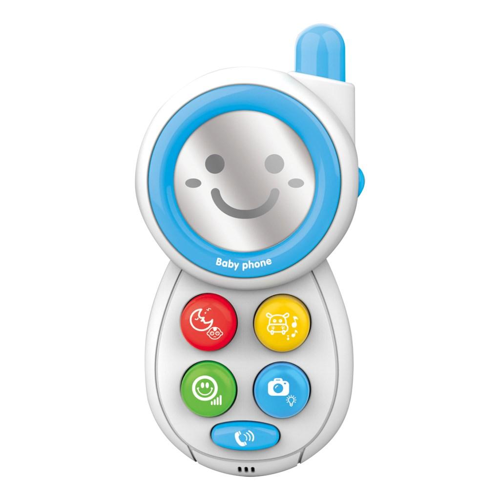 Detská hračka so zvukom Telefónik modrý
