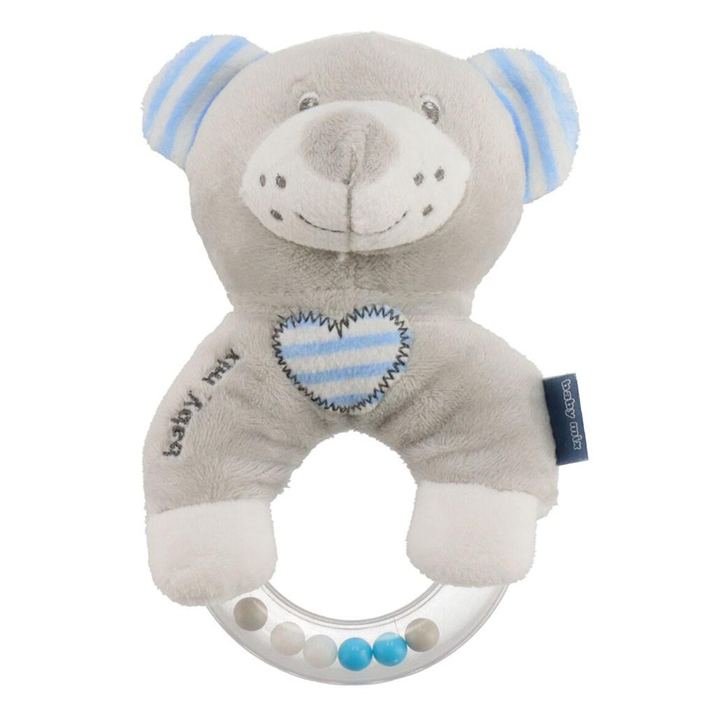 Dětské plyšové chrastítko Baby Mix medvěd modrý