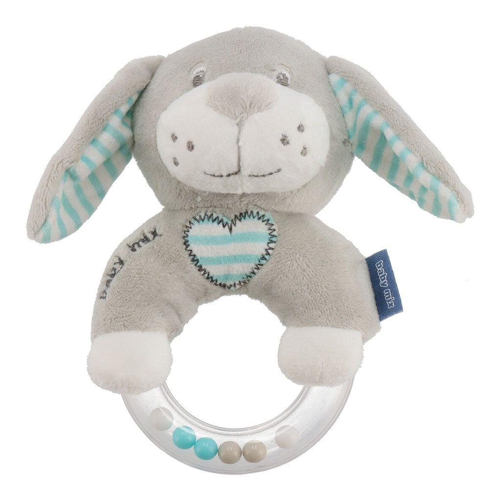 Dětské plyšové chrastítko Baby Mix pes mátový