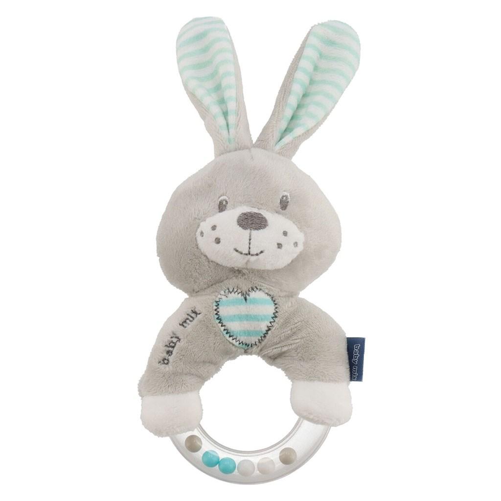 Dětské plyšové chrastítko Baby Mix králík mátový