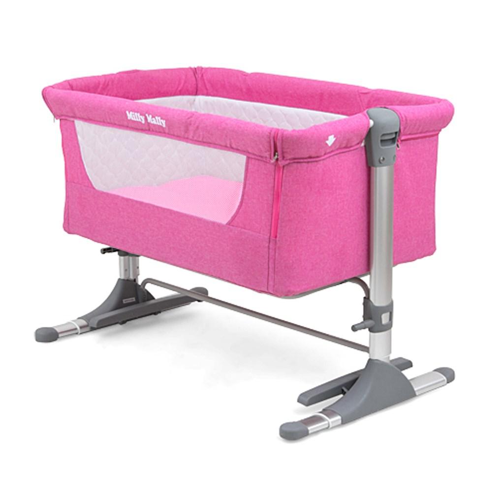 Dětská postýlka Milly Mally Side by Side pink