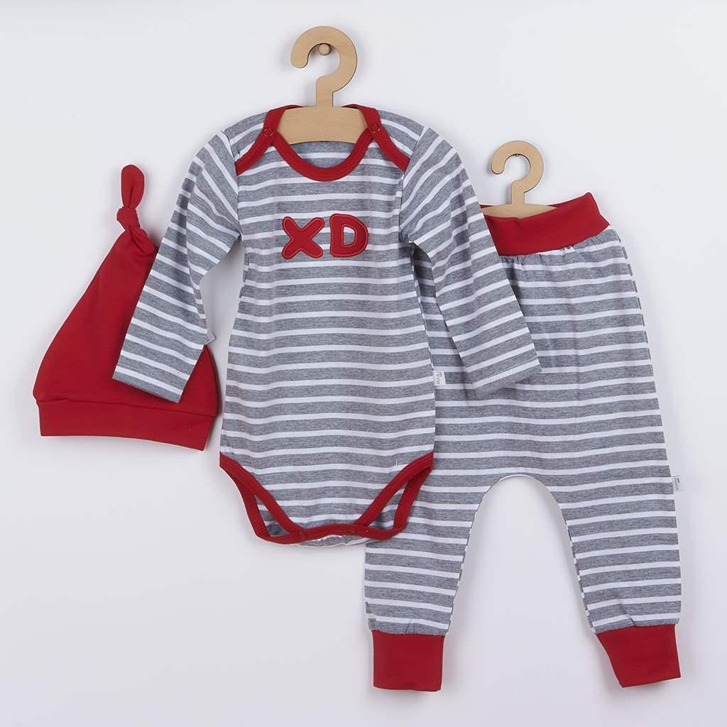 3-dílná bavlněná kojenecká souprava Koala XD červená, Velikost: 86 (12-18m)